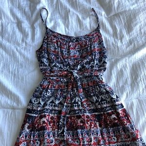 Forever 21 Paisley Tie-Waist Casual Dress
